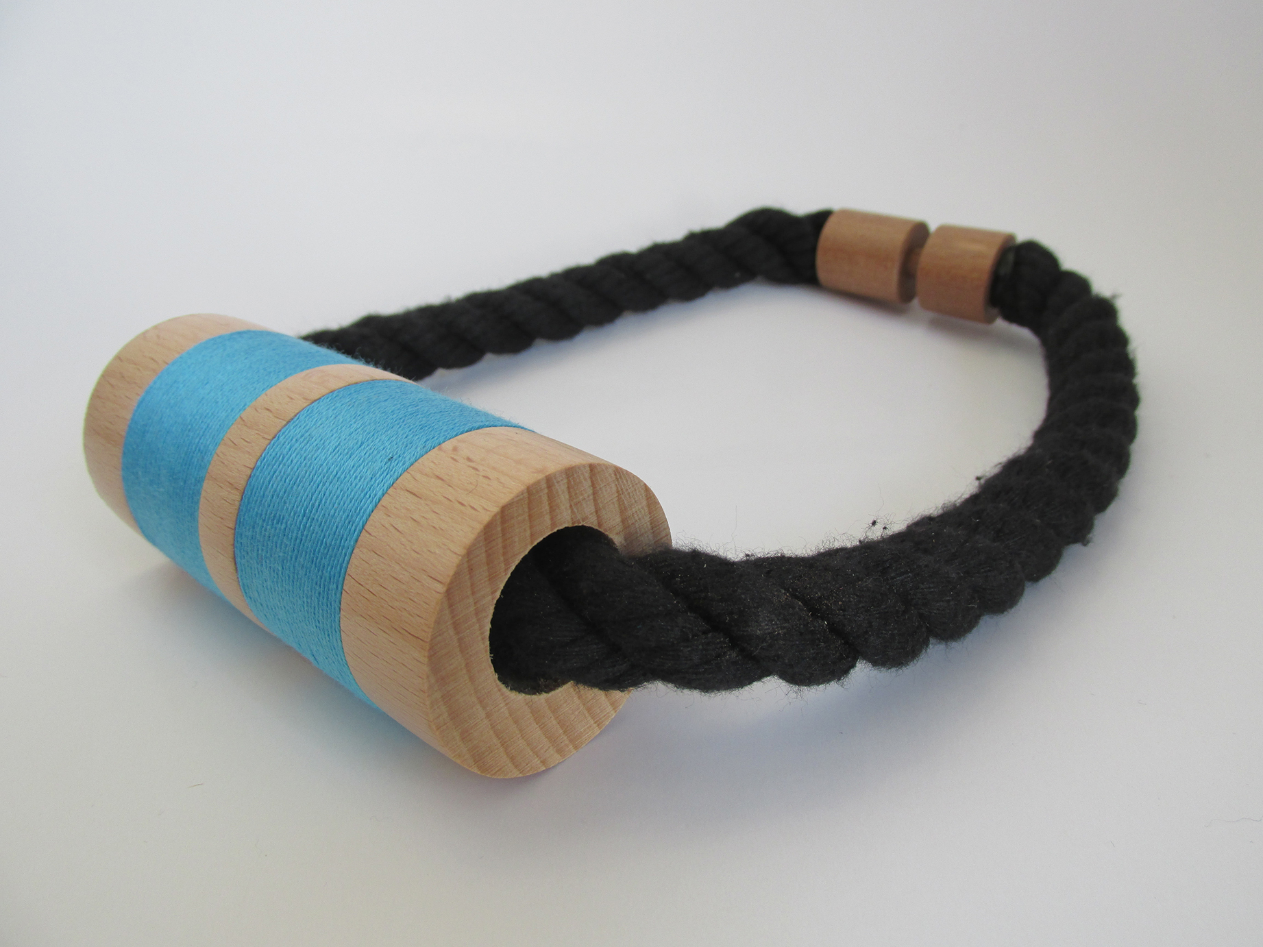 hand made wood turned rope necklace