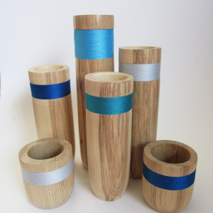 hand made wood turned decorative vessels