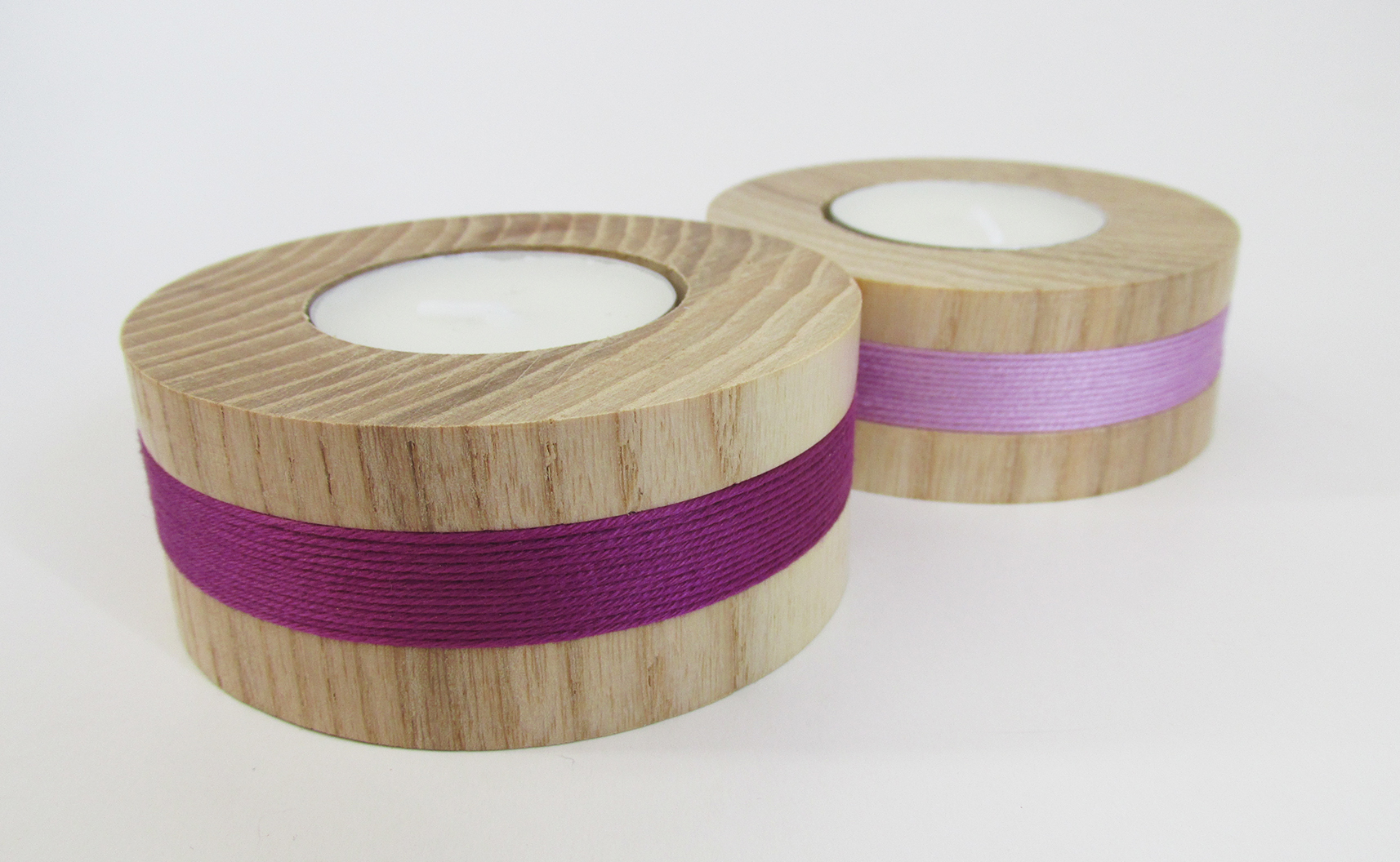 hand made wood turned tealight holders