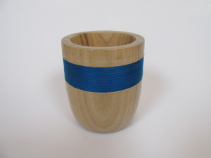 hand made wood turned small vessel