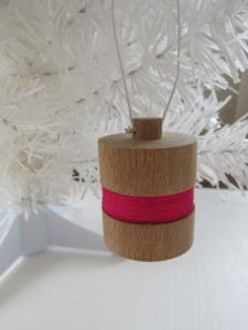 hand made wood turned xmas decoration