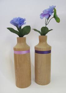 hand made wood turned medium size pots