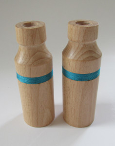 hand made wood turned pots