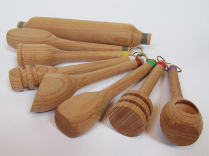 hand made wood turned utensils