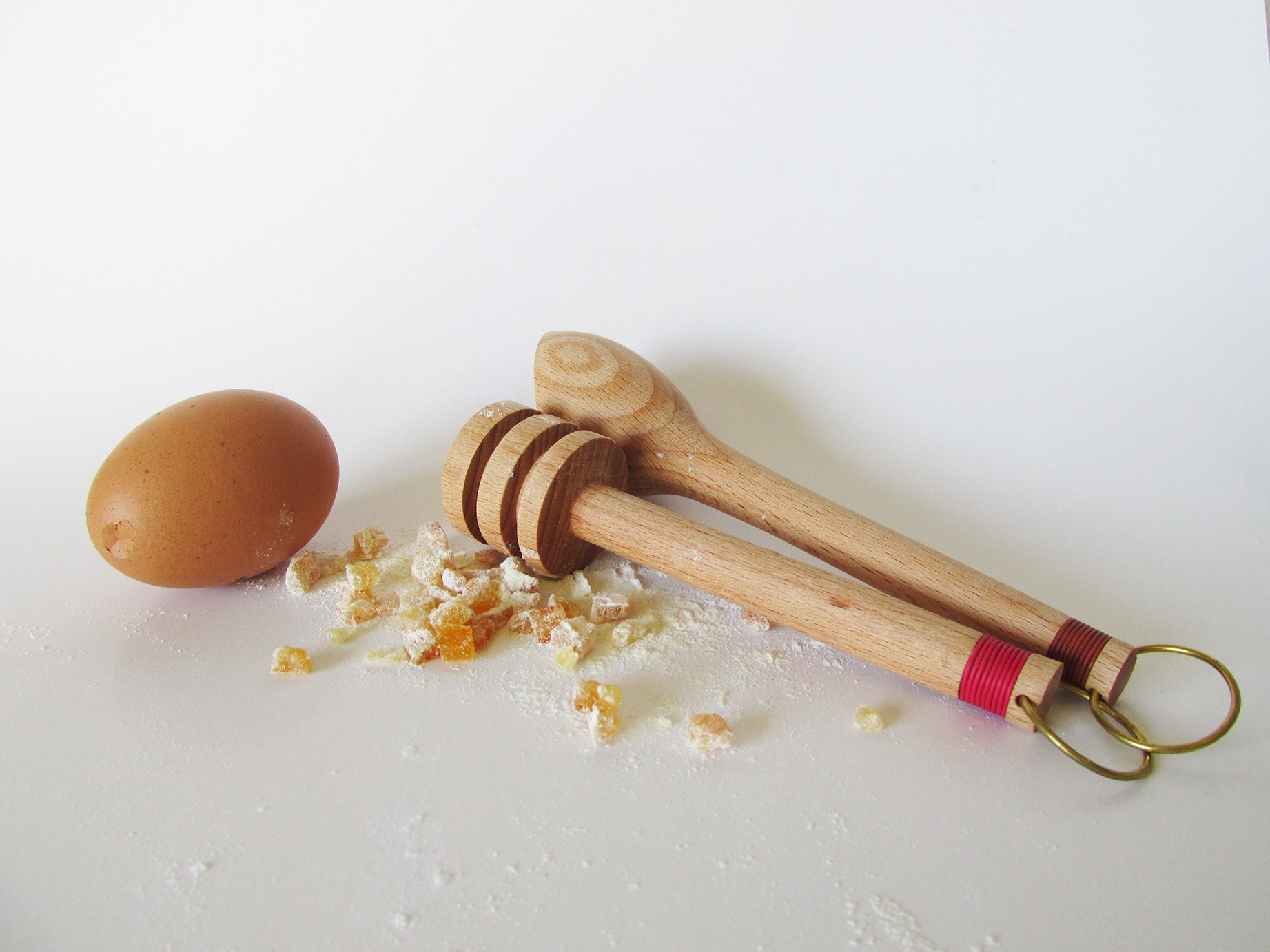 hand made wood turned utensils